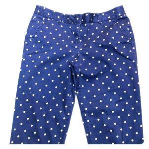 J. Crew Pants - J Crew Polka Dot Cafe Skinny Capri Pants